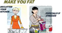 Le désordre dans la cuisine est l'ennemi des régimes!