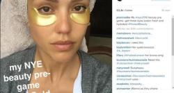 Un masque pour les yeux en or de 24 carats dont sont friandes les stars comme Jessica Alba ou Rosie Huntington-Whiteley